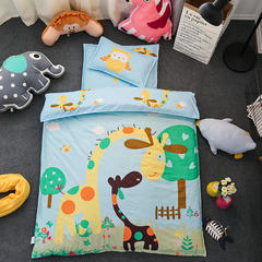 全棉活性13372大版系列幼儿园儿童套件 棉花双胆款七件套 七件套 动物乐园