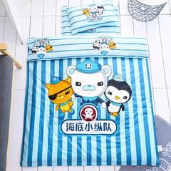全棉活性13372大版系列幼儿园儿童套件 棉花双胆款七件套 七件套 海底小纵队