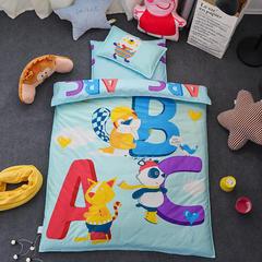 全棉活性13372大版系列幼儿园儿童套件 棉花双胆款七件套 七件套 字母ABC