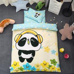 全棉活性13372大版系列幼儿园儿童套件 三件套不含芯 动感熊猫