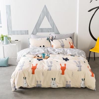 花团锦簇系列 小号(1.35m床)三件套 可爱兔兔
