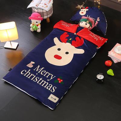 北欧极暖绒INS大版数码印花保暖睡袋  睡袋单外套(3斤) 圣诞快乐