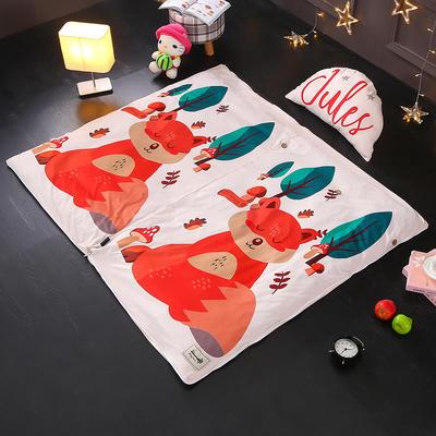 北欧极暖绒INS大版数码印花保暖睡袋    睡袋+厚薄棉花双胆(7斤)含月亮枕 狐狸宝宝