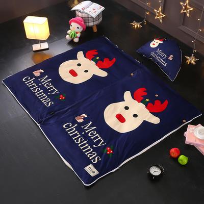 北欧极暖绒INS大版数码印花保暖睡袋    睡袋+厚薄棉花双胆(7斤)含月亮枕 圣诞快乐