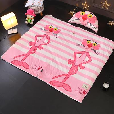 北欧极暖绒INS大版数码印花保暖睡袋    睡袋+厚薄棉花双胆(7斤)含月亮枕 网红顽皮豹
