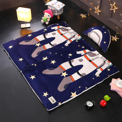 北欧极暖绒INS大版数码印花保暖睡袋    睡袋+厚薄棉花双胆(7斤)含月亮枕 宇航员
