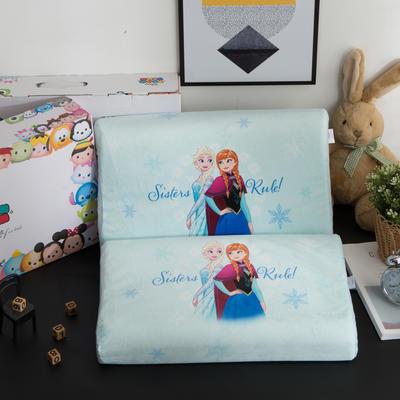 迪士尼天然进口乳胶枕儿童学生卡通A品进口乳胶枕芯 冰雪奇缘-蓝27*44cm