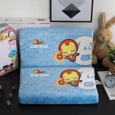 迪士尼天然进口乳胶枕儿童学生卡通A品进口乳胶枕芯 钢铁侠-蓝27*44cm