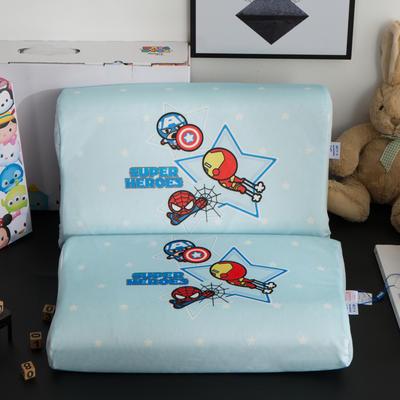 迪士尼天然进口乳胶枕儿童学生卡通A品进口乳胶枕芯 漫威-蓝30*50*7/9cm