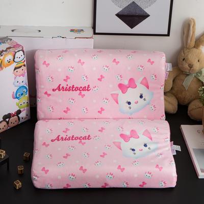 迪士尼天然进口乳胶枕儿童学生卡通A品进口乳胶枕芯 玛丽猫27*44cm