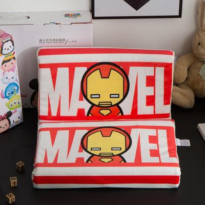 迪士尼天然进口乳胶枕儿童学生卡通A品进口乳胶枕芯 钢铁侠-红27*44cm