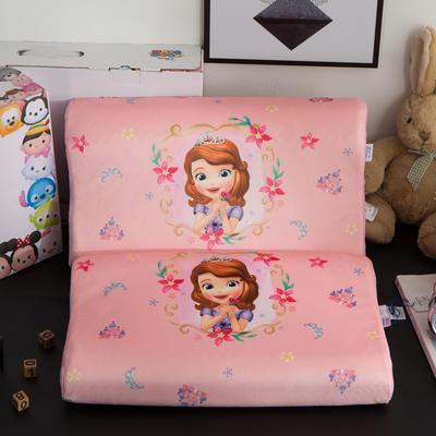 迪士尼天然进口乳胶枕儿童学生卡通A品进口乳胶枕芯 苏菲亚-桃粉27*44cm