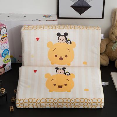 迪士尼天然进口乳胶枕儿童学生卡通A品进口乳胶枕芯 小熊维尼-伙伴27*44cm