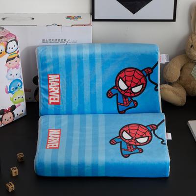 迪士尼天然进口乳胶枕儿童学生卡通A品进口乳胶枕芯 蜘蛛侠27*44cm
