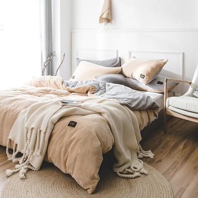 韩国进口保暖面料 发热绒 3D 保暖四件套 1.8m(6英尺)床 暖柔沙
