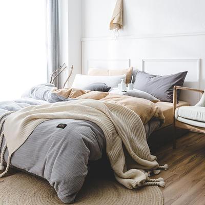 韩国进口保暖面料 发热绒 3D 保暖四件套 1.8m(6英尺)床 岩石灰