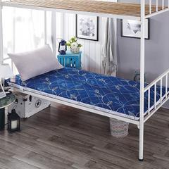 帛奴床垫-磨毛加厚印花学生床垫 90*200cm 优雅无声-蓝