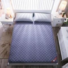 磨毛加厚格子系列床垫 180*200cm 灰-(1)