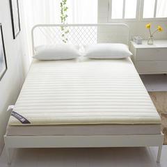 全棉纯色加厚床垫 90*200cm 本白-(1)