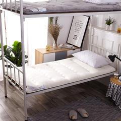 针织布/舒棉绒 双面用抗菌夹 棉记忆棉学生床垫 1.5m(5英尺)床 舒棉绒(白色)