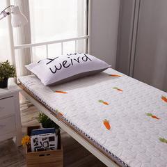 水洗布绗绣加厚床垫 0.9m(学生床) 胡萝卜