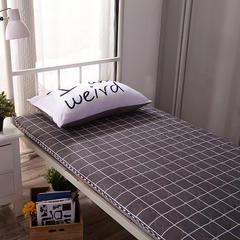 水洗布绗绣加厚床垫 0.9m(学生床) 灰格