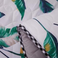 水洗布绗绣加厚床垫 0.9m(学生床) 芭蕉叶