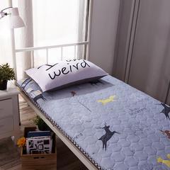 水洗布绗绣加厚床垫 0.9m(学生床) 林间