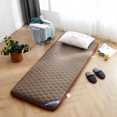 亚麻宽边床垫学生款 90*200cm 棕色