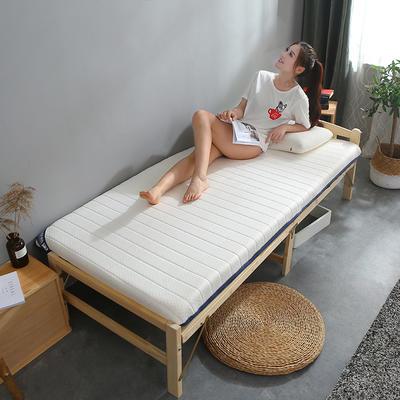 乳胶+双面用床垫单边6cm-10cm款 90*200cm 6cm白