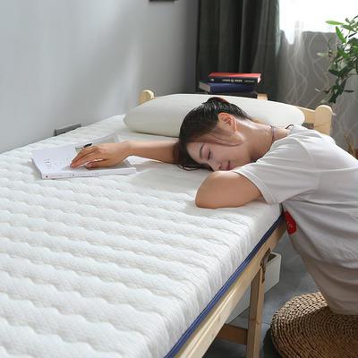 針織布雙面加厚床墊6cm-10cm款 90*200cm 6cm白