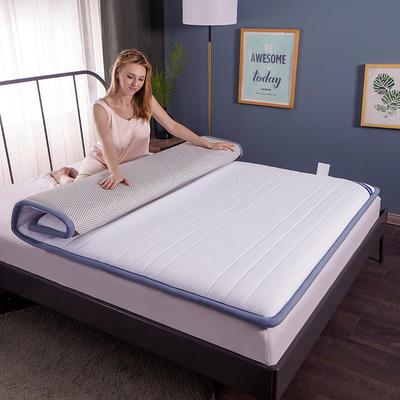 2019新款-全棉防水乳膠床墊 90*200cm 白條紋