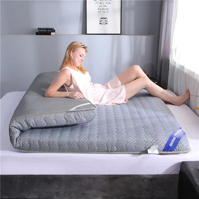 2019新款-針織布加厚雙面床墊6cm 90*200cm 灰色
