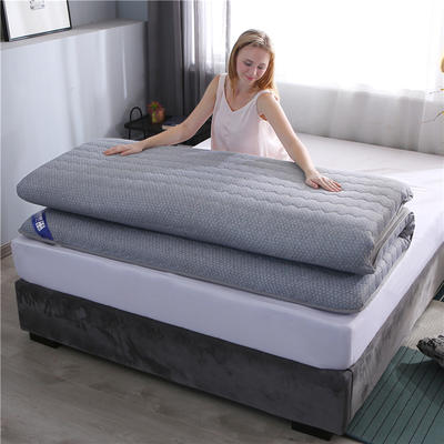 2019新款-針織布加厚雙面床墊10cm 90*200cm 灰色