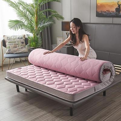 2020新款-水洗真丝乳胶记忆棉床垫(9cm) 90*200 粉紫