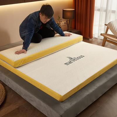 2020新款-活性炭記憶棉可拆洗床墊(5cm) 90*200 白