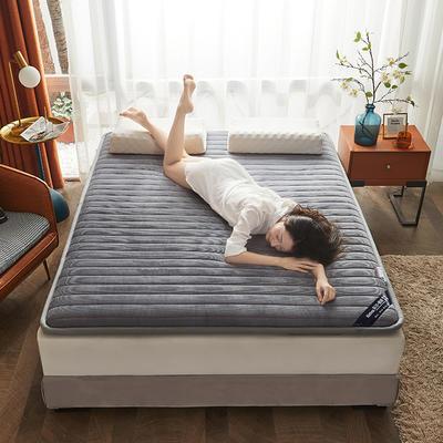 2020新款-灯芯绒宽边压缩床垫 90*200 灰
