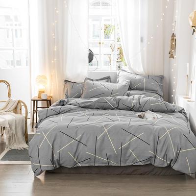 2018新款植物阳绒生态棉简约款四件套 1.5m四件套 空间
