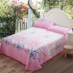 帝爱慕思  可水洗可机洗床单式竹纤维凉席三件套 250*250cm 9089红