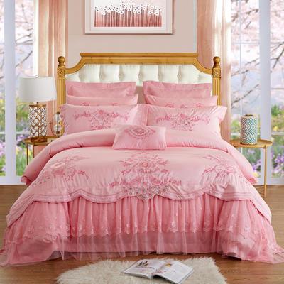 蕾丝系列  幸福人生(玉) 标准(1.5m-1.8m床) 四件套床单式