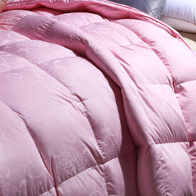 羽绒被 全棉贡缎提花羽绒被 200*230cm 80%白鸭绒