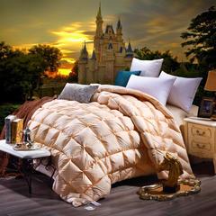 2018斜格面包被 200*230cm(80%白鹅绒) 金色
