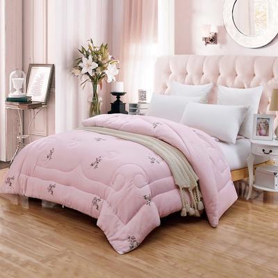 印花细布面料棉花被 150X200cm(5斤) 真爱永恒粉