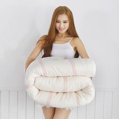 2018新款-棉花胎红线被子被芯(单人被) 180*200cm/8斤 棉花胎红线