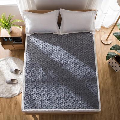 2019新款棉花被-全棉双面软床垫 90*200cm 烟灰-自由飞翔