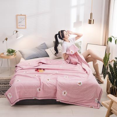 2020新款-印花夏被 150x200cm 粉紅色的回憶