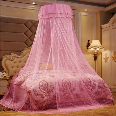 2019新款吊顶落地小圆顶蚊帐—低价引流小圆顶 直径0.6米 粉色