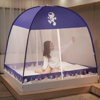 2021新款防尘顶防蚊魔术免安装蒙古包蚊帐坐床式360度防蚊蒙古包蚊帐 1.5m 防尘顶-太空人