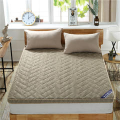 4D加厚透气立体床垫 180*200cm 驼色