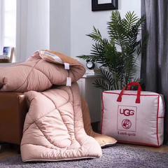 爆款UGG羊羔绒冬被 羊羔绒被子,拿货价80元,90元包邮,偏远地区运费另算 200X230cm 驼色